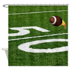 flaming_football_shower_curtain