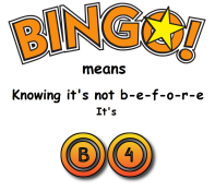 BINGO it is B4