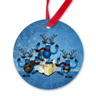 Reindeer band xmas ornament
